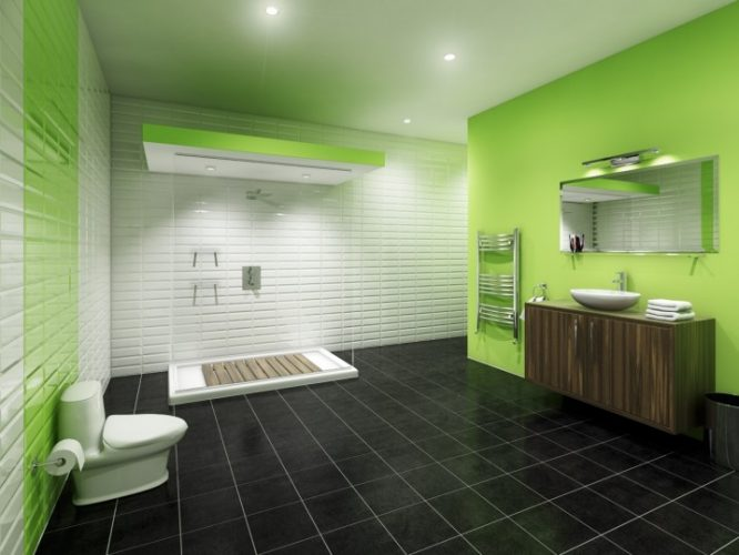 How to Make a Bathroom Less Boring Tranquil Green Paint