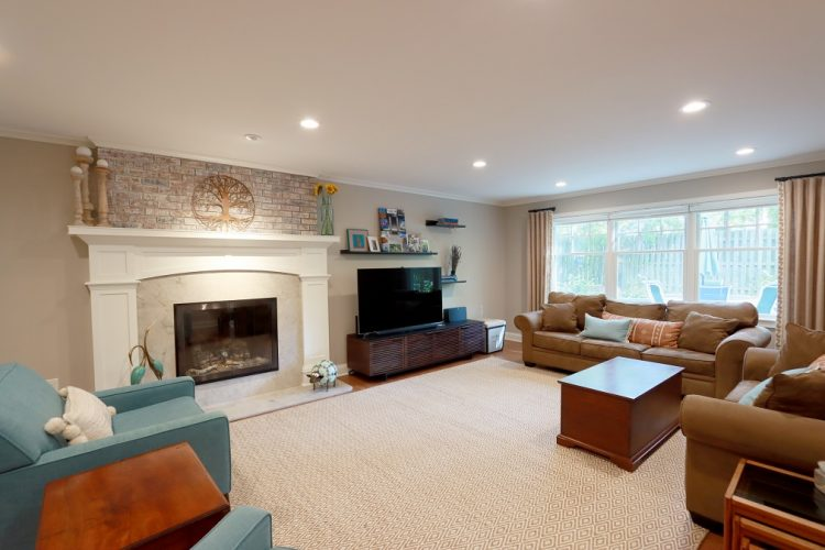 Television Room & Fireplace
